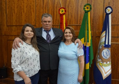 Presidente eleita e sua família