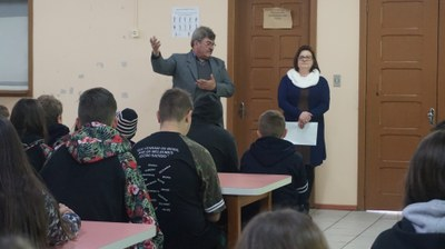 Visita a Escola Prefeito José Chies