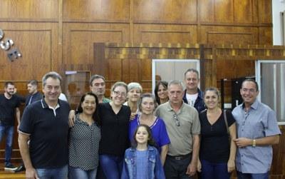 Familiares de Arthur Danieli com proponente