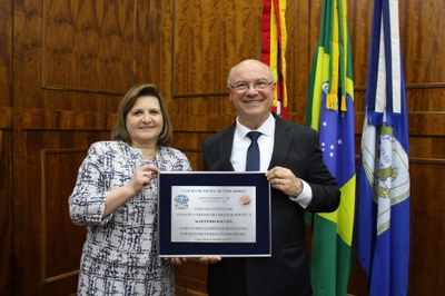 12.09.2019 Vereadora Rosalia e Agostinho Baccon