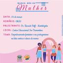 Combate ao câncer de mama será tema de evento alusivo ao mês da mulher
