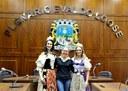 Comitiva da Festa da Uva de Caxias do Sul visita a Câmara